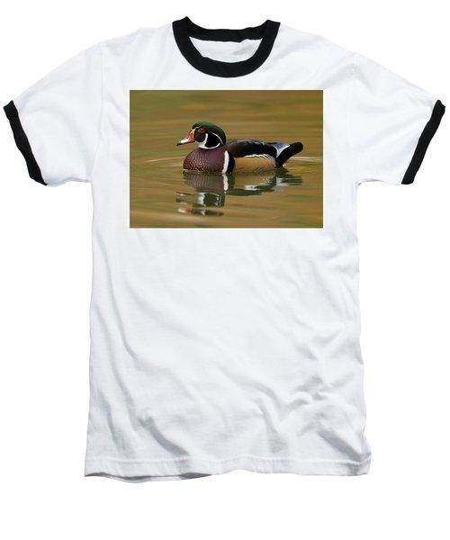 Baseball T-Shirt featuring the photograph Wood Duck by Doug Herr