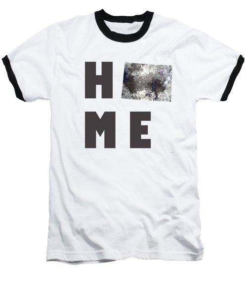 Baseball T-Shirt featuring the digital art Wyoming State Map by Marlene Watson