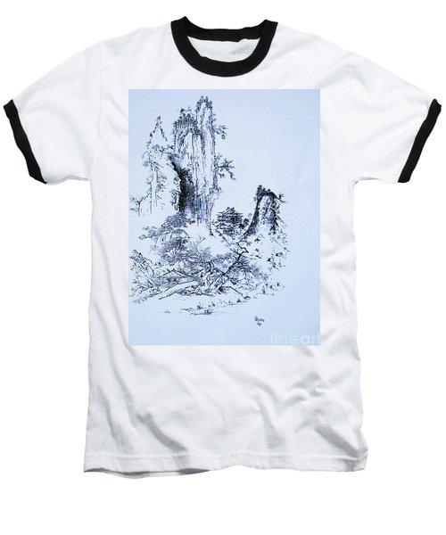 Yama No Fukei Baseball T-Shirt by Roberto Prusso