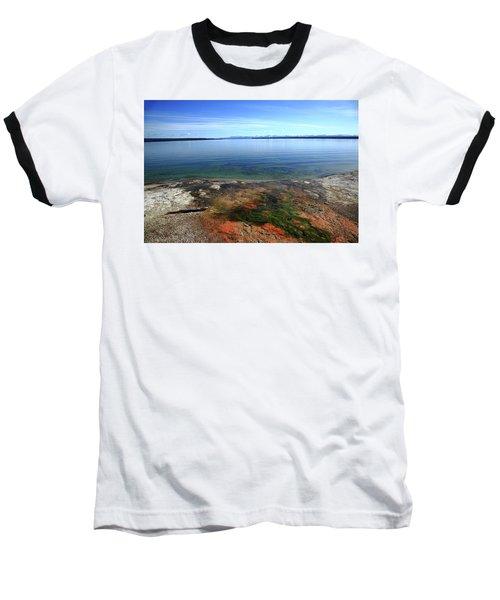 Baseball T-Shirt featuring the photograph Yellowstone Lake Colors by Frank Romeo