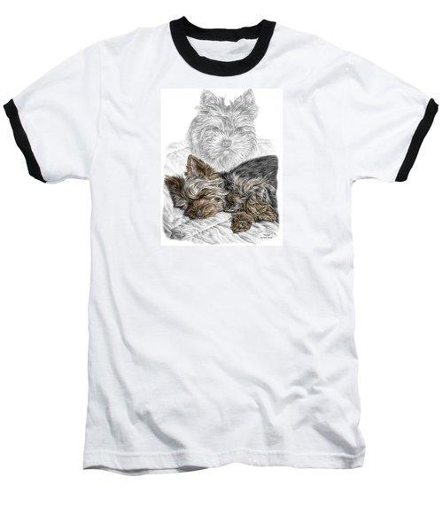 Yorkie - Yorkshire Terrier Dog Print Baseball T-Shirt