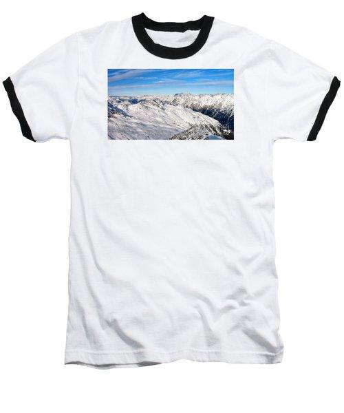 Baseball T-Shirt featuring the pyrography Yury Bashkin Mountains by Yury Bashkin