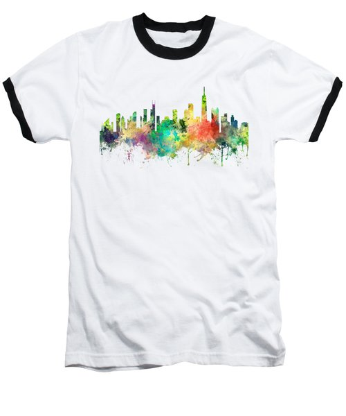 Chicago Illinois Skyline Baseball T-Shirt