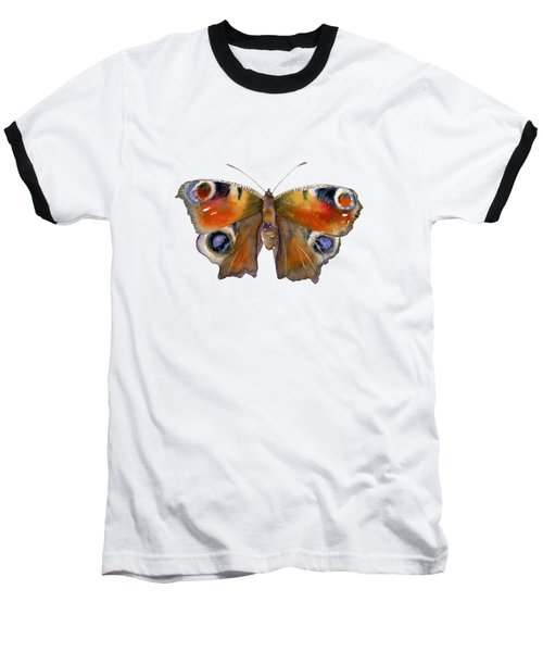 10 Peacock Butterfly Baseball T-Shirt