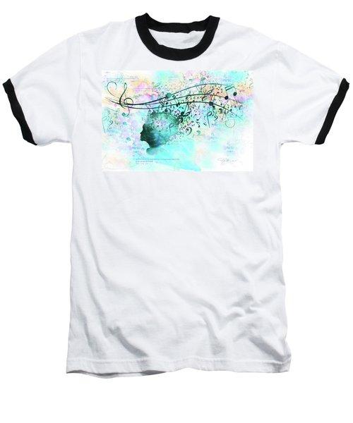 10846 Melodic Dreams Baseball T-Shirt by Pamela Williams