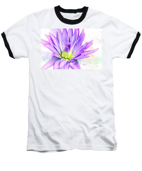 10889 Purple Lily Baseball T-Shirt by Pamela Williams