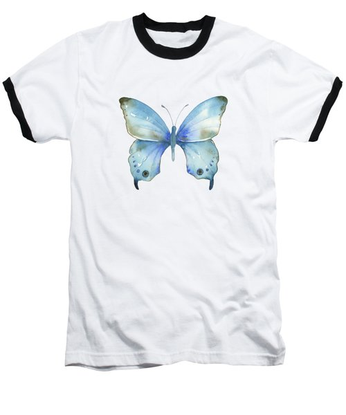 #109 Blue Diana Butterfly Baseball T-Shirt