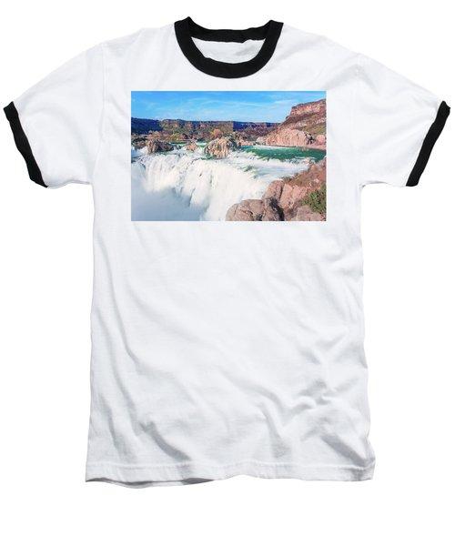 10917 Shoshone Falls Baseball T-Shirt by Pamela Williams