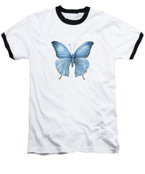 111 Blue Elijah Butterfly Baseball T-Shirt