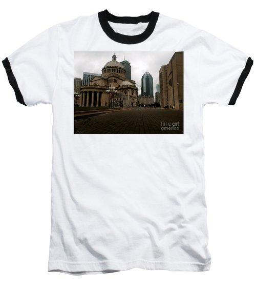 111 Huntington Ave Baseball T-Shirt by KD Johnson