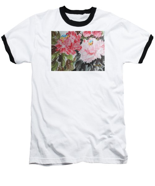 Baseball T-Shirt featuring the painting 11192015-0756 by Dongling Sun
