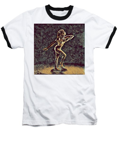 1192s-zac Nudes In The Style Of Antonio Bravo  Baseball T-Shirt by Chris Maher
