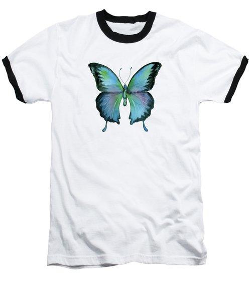 12 Blue Emperor Butterfly Baseball T-Shirt