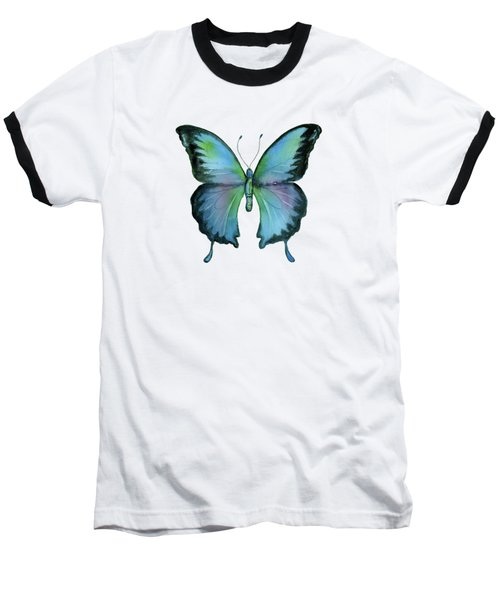 12 Blue Emperor Butterfly Baseball T-Shirt