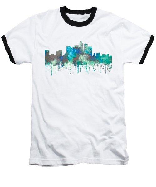 Baseball T-Shirt featuring the digital art Los Angeles California Skyline by Marlene Watson