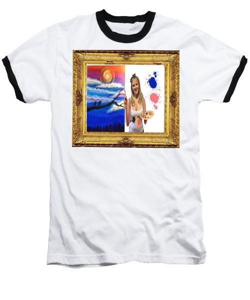 Baseball T-Shirt featuring the digital art Cover Art For Gallery by Diana Riukas