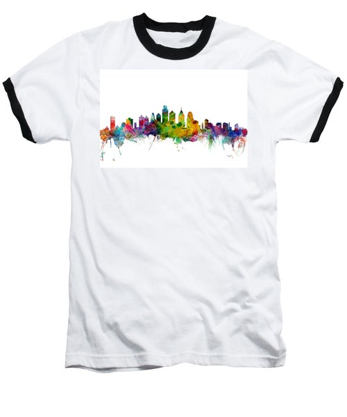 Philadelphia Pennsylvania Skyline Baseball T-Shirt