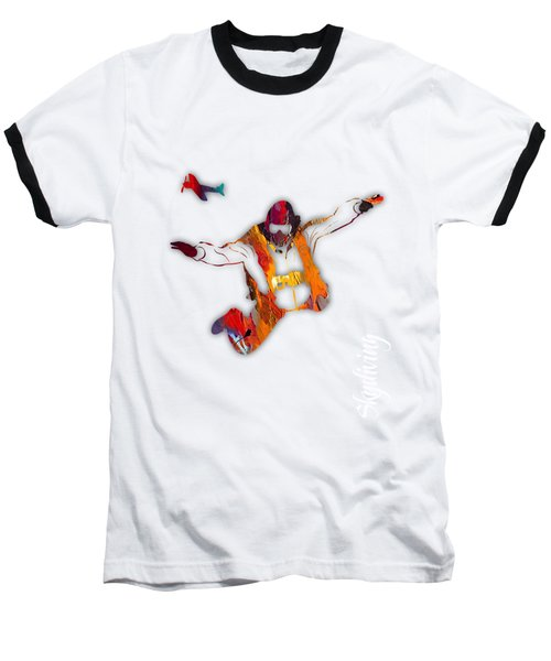 Skydiving Collection Baseball T-Shirt by Marvin Blaine