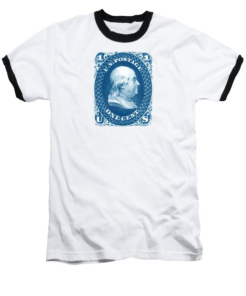 1861 Benjamin Franklin Stamp Baseball T-Shirt by Historic Image