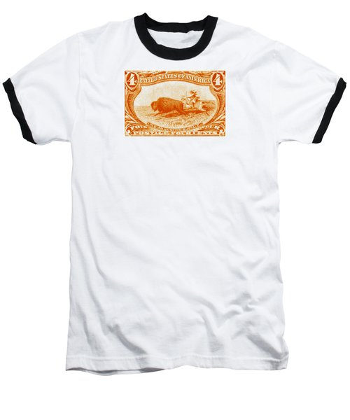 1898 Indian Hunting Buffalo Baseball T-Shirt