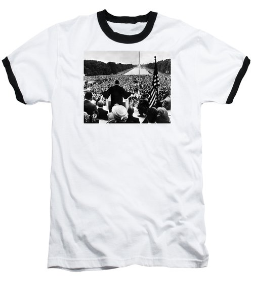 Martin Luther King Jr Baseball T-Shirt by American School