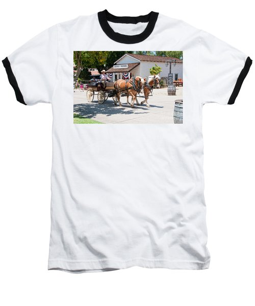 Old Town San Diego Baseball T-Shirt by Carol Ailles