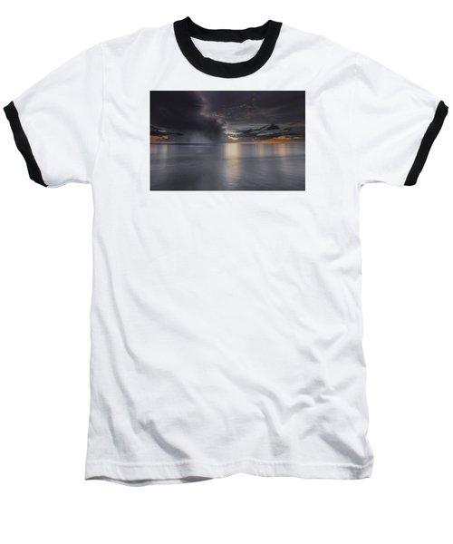 Sunst Over The Ocean Baseball T-Shirt by Peter Lakomy