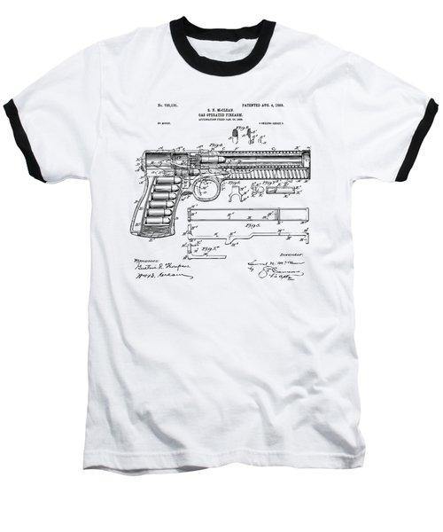 Baseball T-Shirt featuring the digital art 1903 Mcclean Pistol Patent Artwork - Vintage by Nikki Marie Smith