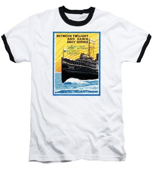1910 Detroit To Buffalo Steamship Baseball T-Shirt