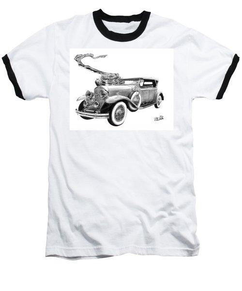 1929 Cadillac  Baseball T-Shirt by Peter Piatt