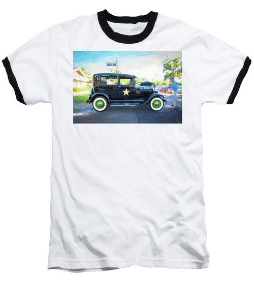 1929 Ford Model A Tudor Police Sedan  Baseball T-Shirt by Rich Franco