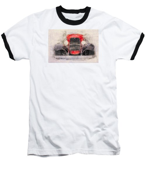 1932 Ford Roadster Red And Black Baseball T-Shirt
