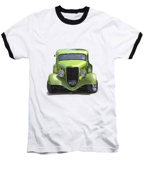 1934 Ford Street Hot Rod On A Transparent Background Baseball T-Shirt by Terri Waters