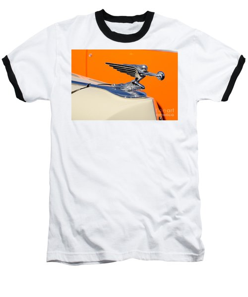 Baseball T-Shirt featuring the photograph 1936 Packard Hood Ornament by Aloha Art