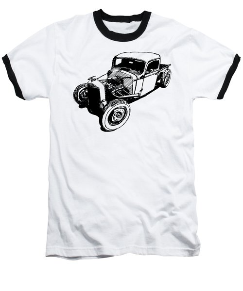 1937 Chevy Bobber Truck Hot Rod Tee Baseball T-Shirt