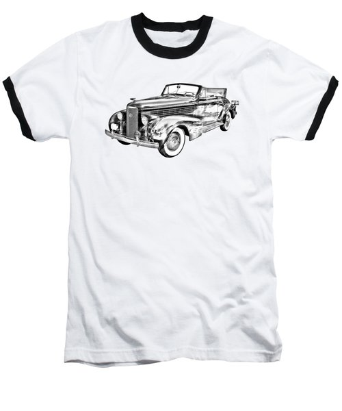1938 Cadillac Lasalle Illustration Baseball T-Shirt