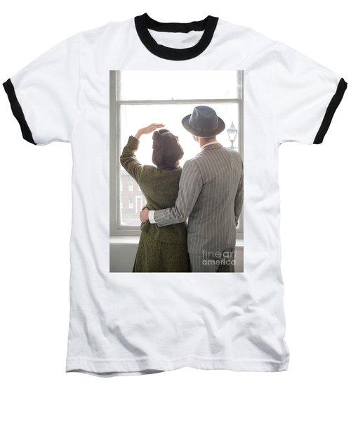 1940s Couple At The Window Baseball T-Shirt