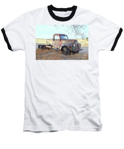 1940s Ford Farm Truck Baseball T-Shirt