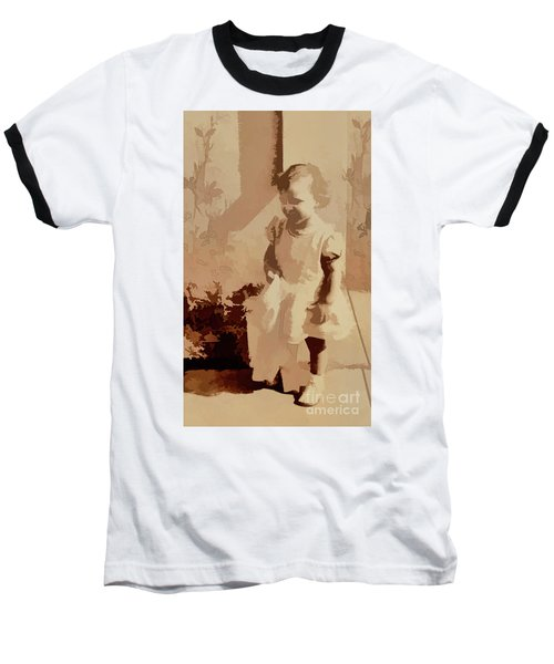 Baseball T-Shirt featuring the photograph 1940s Little Girl by Linda Phelps
