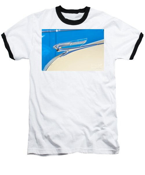 Baseball T-Shirt featuring the photograph 1941 Chevy Hood Ornament by Aloha Art
