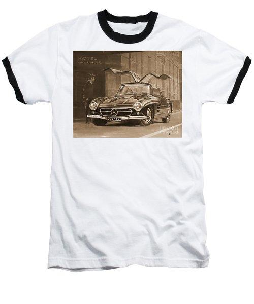 1954 Mercedes Benz 300 Sl  In Sepia Baseball T-Shirt