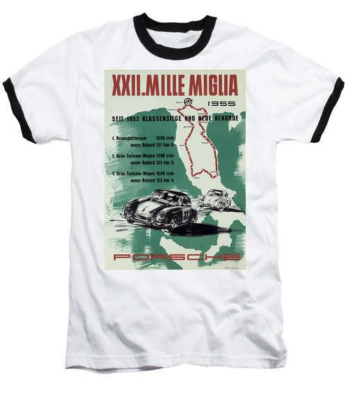 1955 Mille Miglia Porsche Poster Baseball T-Shirt
