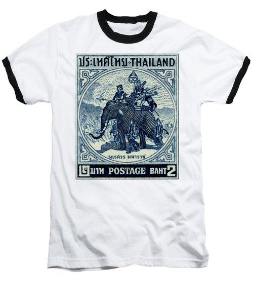 1955 Thailand War Elephant Stamp Baseball T-Shirt