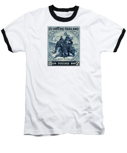 1955 Thailand War Elephant Stamp Baseball T-Shirt