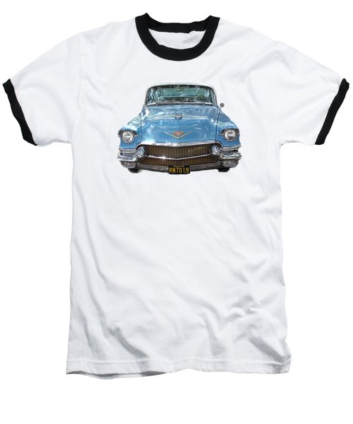 1956 Cadillac Cutout Baseball T-Shirt by Linda Phelps