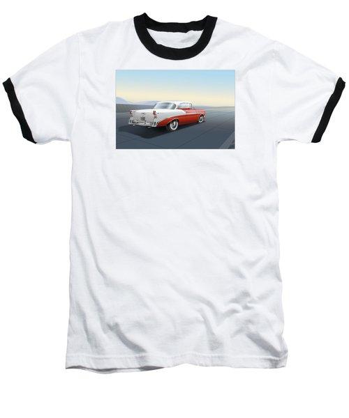 1956 Chevrolet Bel Air Baseball T-Shirt by Marty Garland