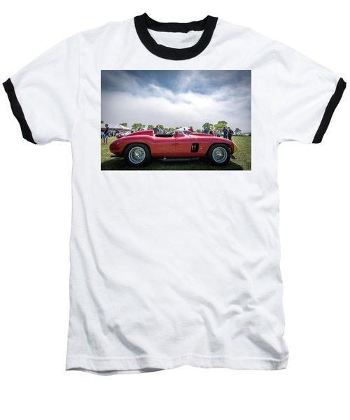 Baseball T-Shirt featuring the photograph 1956 Ferrari 290mm by Randy Scherkenbach