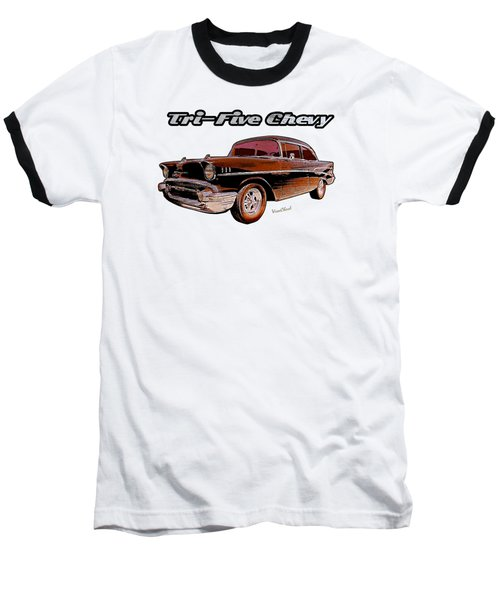 1957 Belair Two-door Sedan Baseball T-Shirt