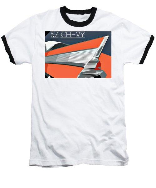 1957 Chevy Art Design By John Foster Dyess Baseball T-Shirt