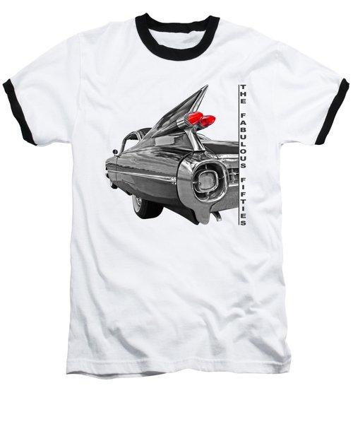 1959 Cadillac Tail Fins Baseball T-Shirt